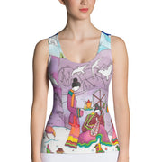 Bold and colorful tank top - striking and garish women shirts by Somejam - Show me your sorrow - Tank Top