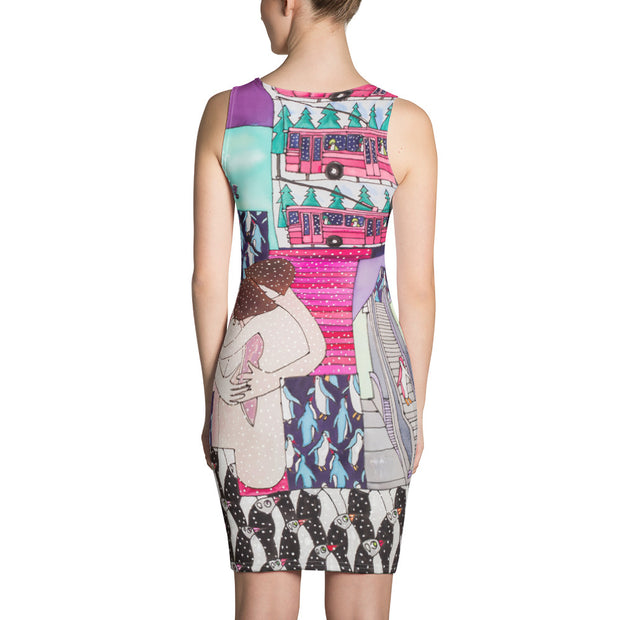 Colorful tight Summer Dress - vivid and garish summer clothes by Somejam - Alone with myself – Strait Dress