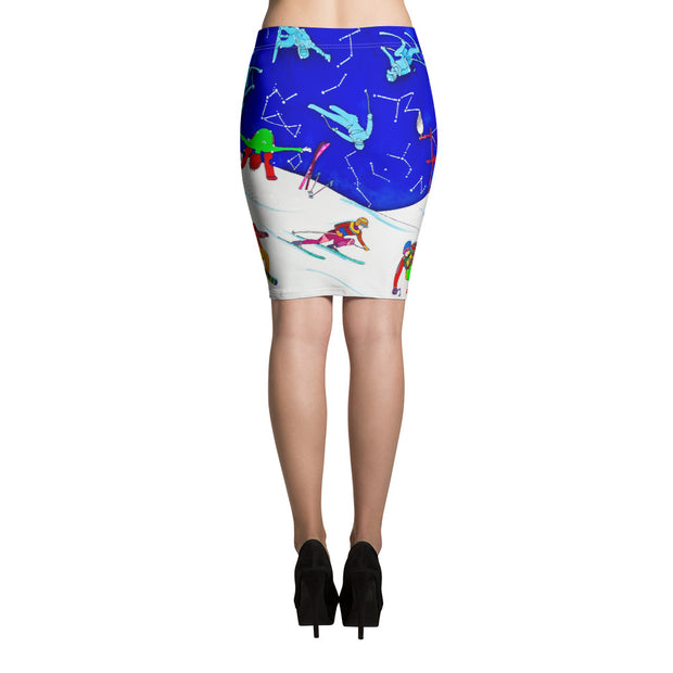 Colorful unique pencil skirt - vivid and garish summer clothes by Somejam - I have been a constellation - Pencil Skirt