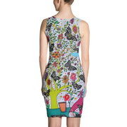 Colorful tight Summer Dress - vivid and garish summer clothes by Somejam - I had to wait for my rider - Strait Dress