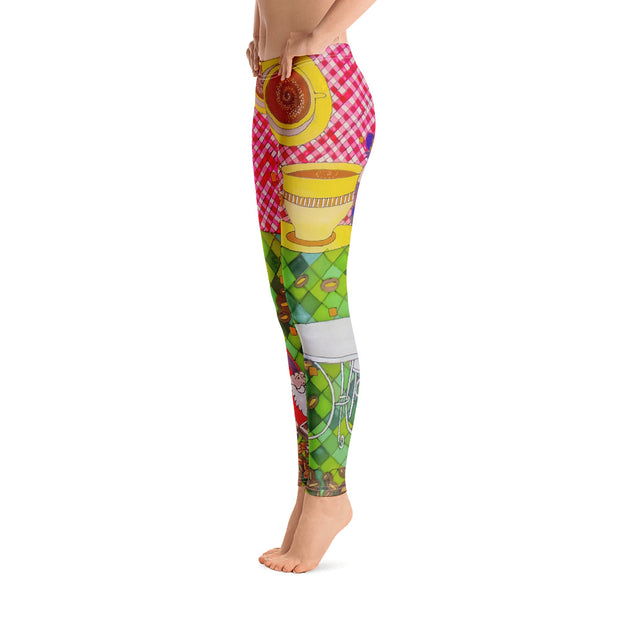 Bold and vivid leggings - colorful and garish yoga pants by Somejam - …is happiness - Basic Legging