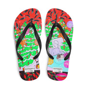Colorful unique flip-flops - vivid and bold beachwear by Somejam - Black is beautiful - Flip-Flops