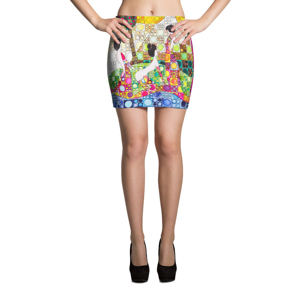 Colorful striking mini skirt - vivid and garish summer clothes by Somejam - Amazons out of Amazonas - Mini Skirt