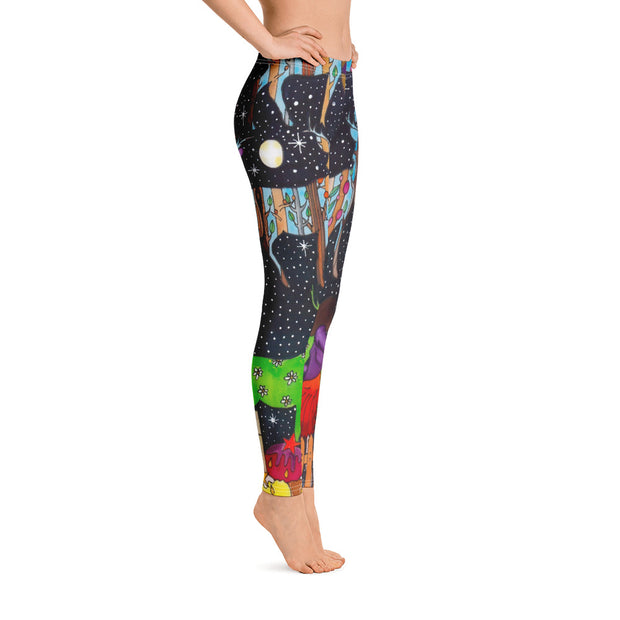 Bold and vivid leggings - colorful and garish yoga pants by Somejam - What will be about the fence? - Basic Legging
