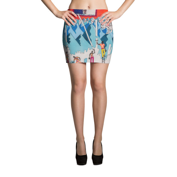 Colorful striking mini skirt - vivid and garish summer clothes by Somejam - For the pleasure of the snow leopard - Mini Skirt