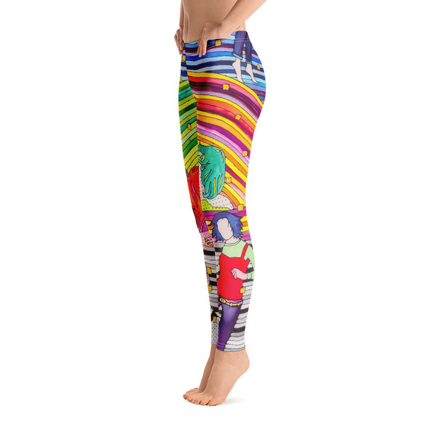 Bold and vivid leggings - colorful and garish yoga pants by Somejam - Hare and Hounds - Basic Legging