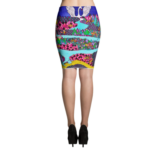 Colorful unique pencil skirt - vivid and garish summer clothes by Somejam - The big IT - Pencil Skirt