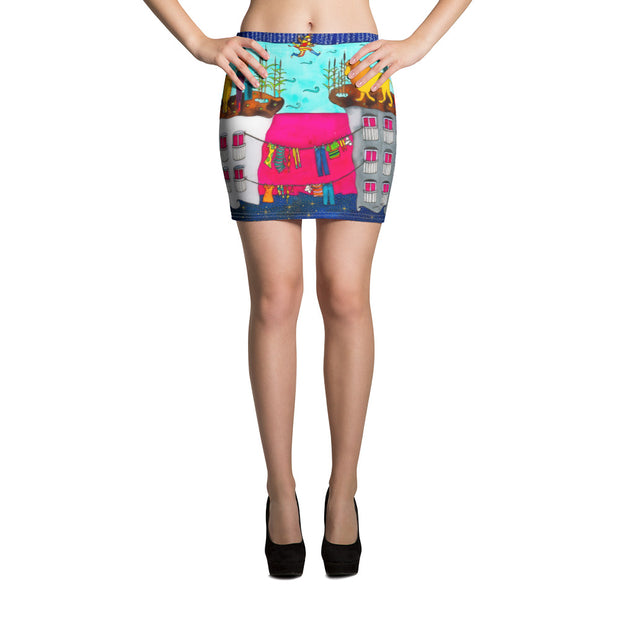 Colorful striking mini skirt - vivid and garish summer clothes by Somejam - Make the Fool jump instead of me - Mini Skirt