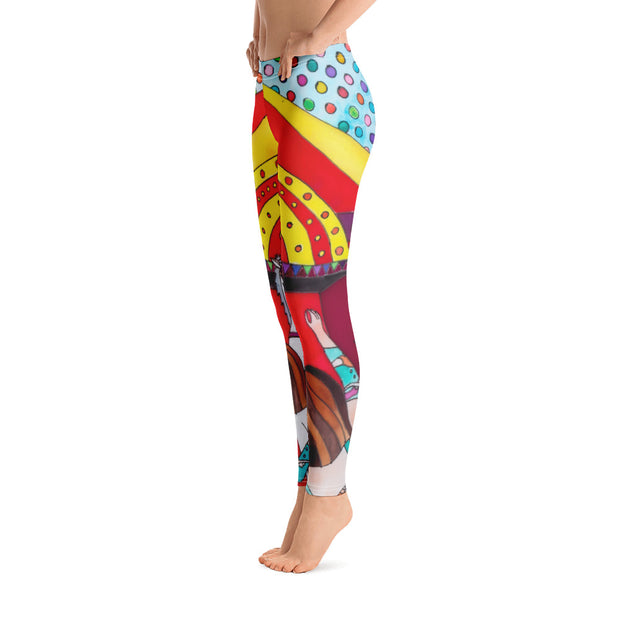 Bold and vivid leggings - colorful and garish yoga pants by Somejam - The circus has surrendered - Basic Legging