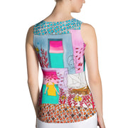 Bold and colorful tank top - striking and garish women shirts by Somejam - My little raft - Tank Top