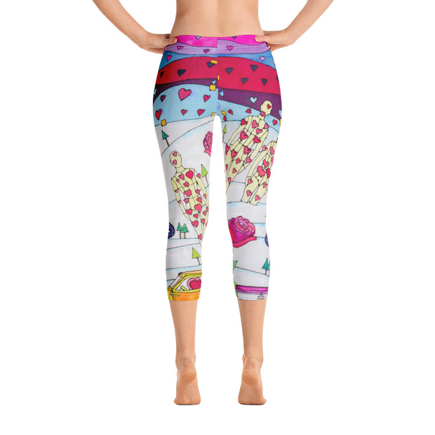 Vivid and bold leggings - colorful and striking summer clothes by Somejam - To all my lovers - Capri Legging