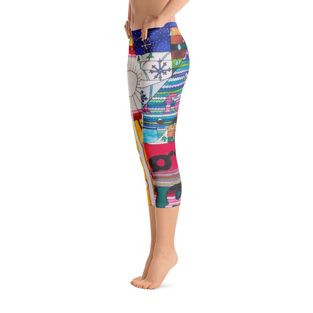 Vivid and bold leggings - colorful and striking summer clothes by Somejam - Bed of the river - Capri Legging