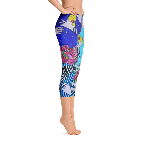 Vivid and bold leggings - colorful and striking summer clothes by Somejam - I wish I was a Zebra - Capri Legging