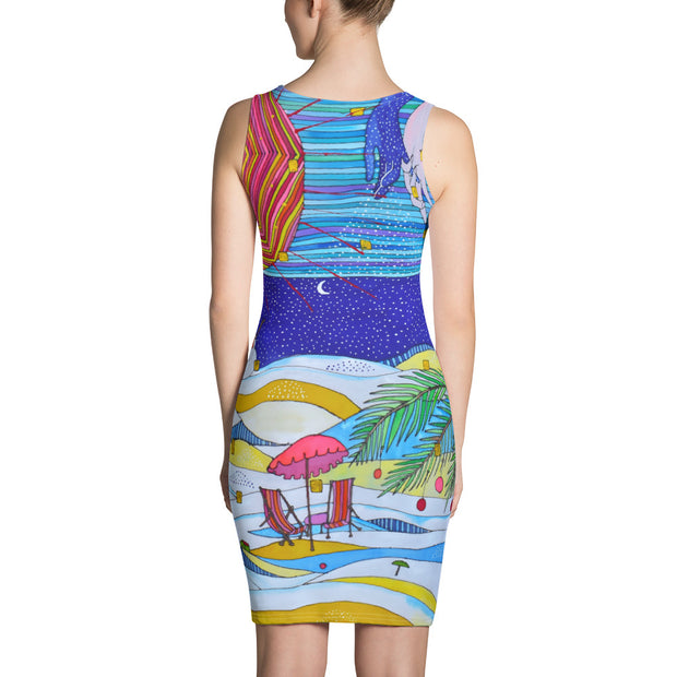 Colorful tight Summer Dress - vivid and garish summer clothes by Somejam - Make waves move mountains - Strait Dress