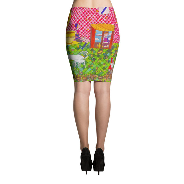 Colorful unique pencil skirt - vivid and garish summer clothes by Somejam - …is happiness - Pencil Skirt