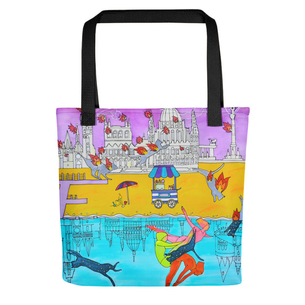 Unique and conspicuous tote bag - colorful and striking women clothing by Somejam - I don't stop for an ice cream if the house on fire - Tote bag