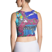 Colorful and bold crop top - striking and flashy women shirts by Somejam - I wish I was a Zebra - Crop Top