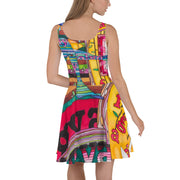 Bold and vivid Summer Dress - colorful and garish summer clothes by Somejam - Bed of the river - Skater Dress