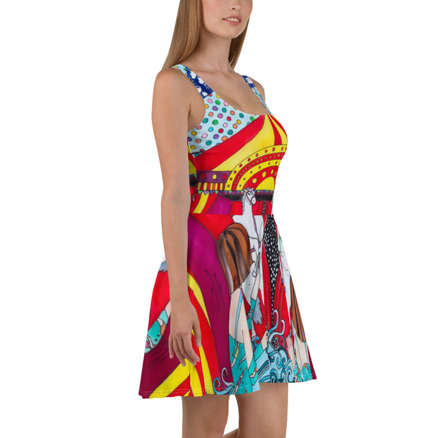 Bold and vivid Summer Dress - colorful and garish summer clothes by Somejam - The circus has surrendered - Skater Dress
