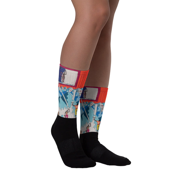 Colorful bold socks - vivid and colorful summer clothes by Somejam - For the pleasure of the snow leopard - Socks