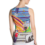 Bold and colorful tank top - striking and garish women shirts by Somejam - Hare and Hounds - Tank Top