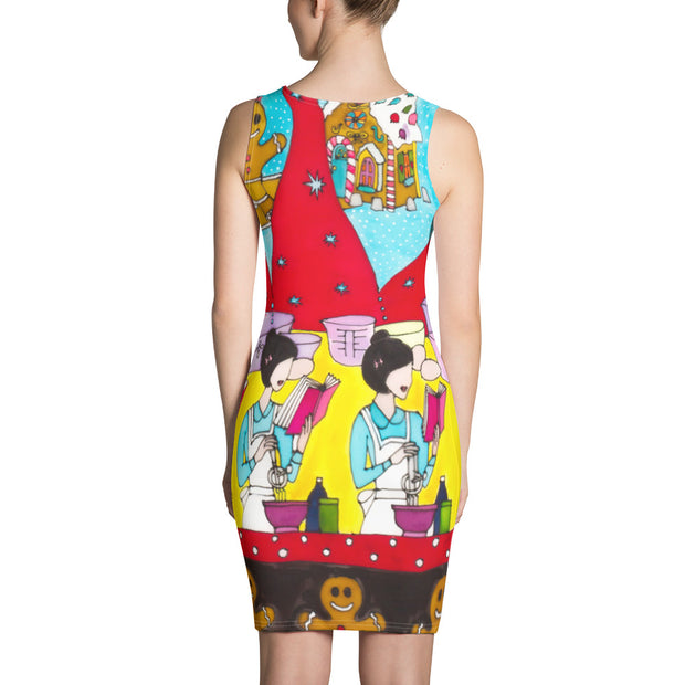Colorful tight Summer Dress - vivid and garish summer clothes by Somejam - December love - Strait Dress