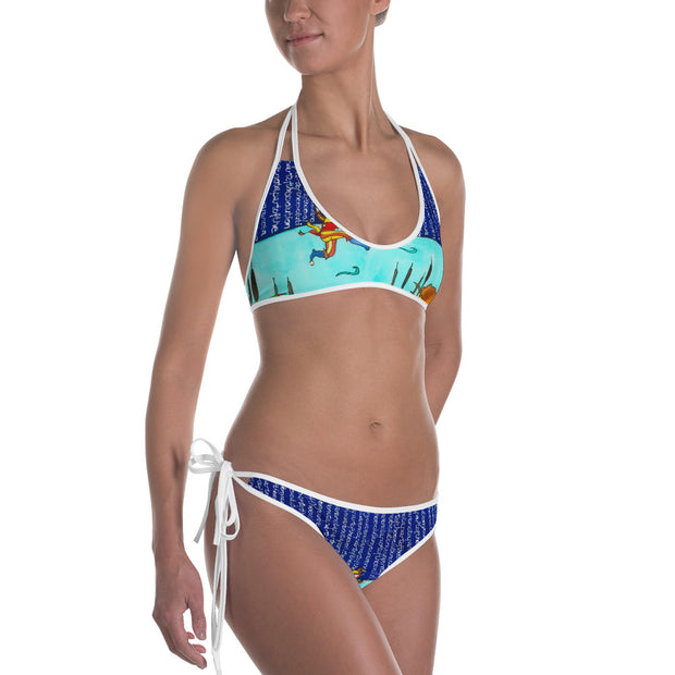 Unique and reversible bikini - colorful and vivid beachwear by Somejam - Make the Fool jump instead of me - Bikini