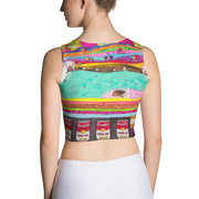 Colorful and bold crop top - striking and flashy women shirts by Somejam - The Princess and the Pea - Crop Top