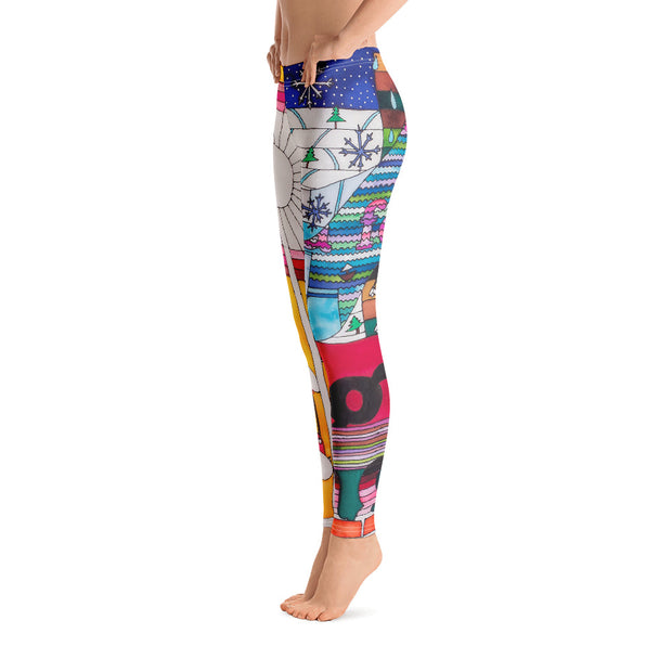 Bold and vivid leggings - colorful and garish yoga pants by Somejam - Bed of the river - Basic Legging