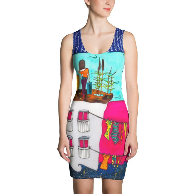 Colorful tight Summer Dress - vivid and garish summer clothes by Somejam - Make the Fool jump instead of me - Strait Dress