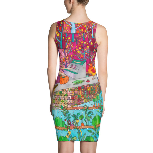 Colorful tight Summer Dress - vivid and garish summer clothes by Somejam - On a star – in a star - Strait Dress