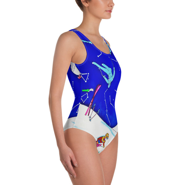 Vivid one-piece swimsuit - colorful and unique beachwear by Somejam - I have been a constellation - Swimsuit