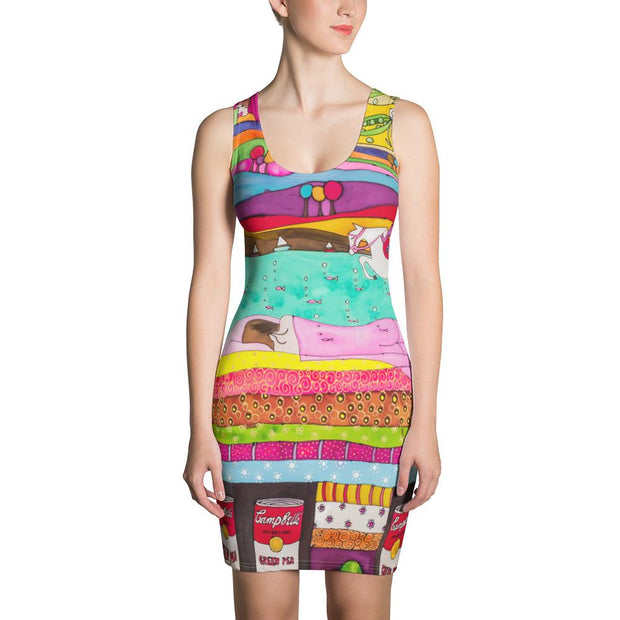 Colorful tight Summer Dress - vivid and garish summer clothes by Somejam - The Princess and the Pea - Strait Dress