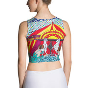 Colorful and bold crop top - striking and flashy women shirts by Somejam - The circus has surrendered - Crop Top