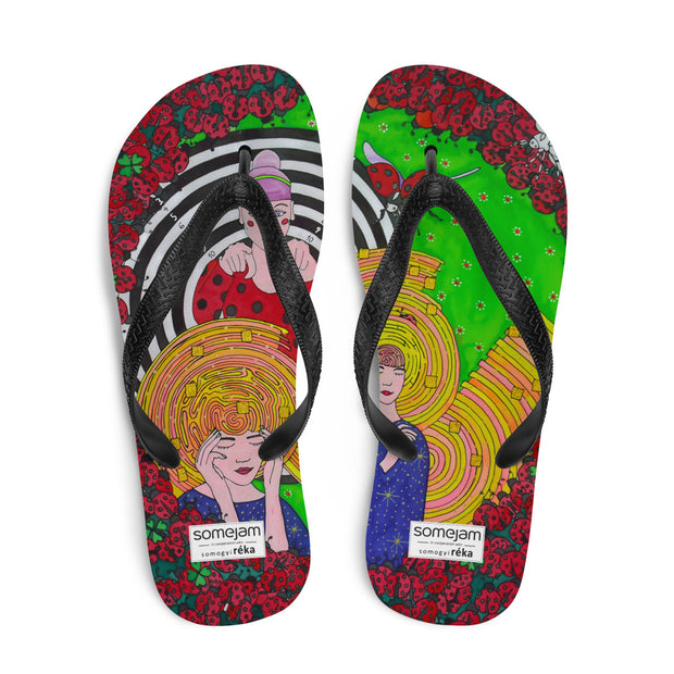 Colorful unique flip-flops - vivid and bold beachwear by Somejam - Du bist! - Flip-Flops