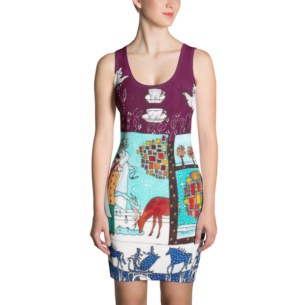 Colorful tight Summer Dress - vivid and garish summer clothes by Somejam - Bar for those who drink empty cups - Strait Dress