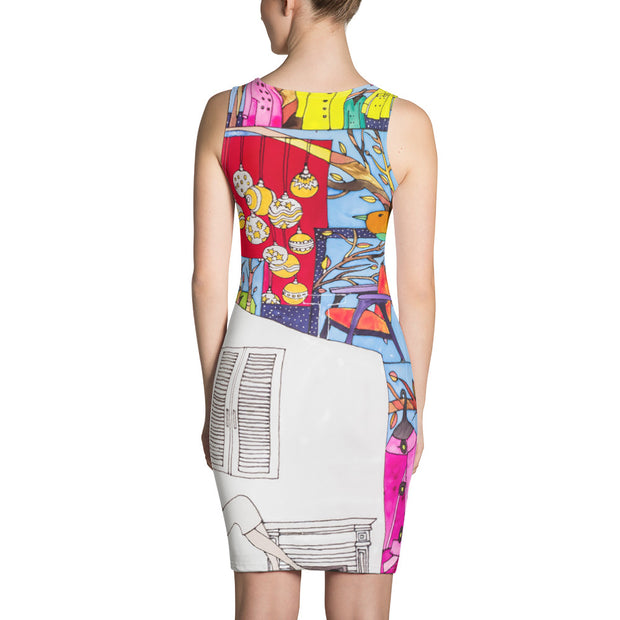 Colorful tight Summer Dress - vivid and garish summer clothes by Somejam - Advent of 2014 - Strait Dress