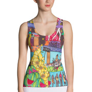 Bold and colorful tank top - striking and garish women shirts by Somejam - How did this dance get into my pantry? - Tank Top