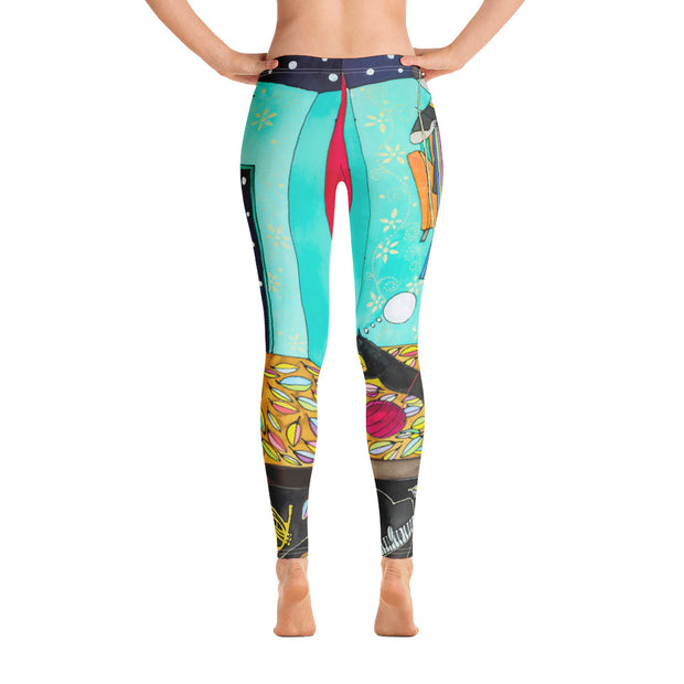 Bold and vivid leggings - colorful and garish yoga pants by Somejam - I shared my room with the Sun - Basic Legging