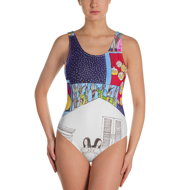 Vivid one-piece swimsuit - colorful and unique beachwear by Somejam - Advent of 2014 - Swimsuit