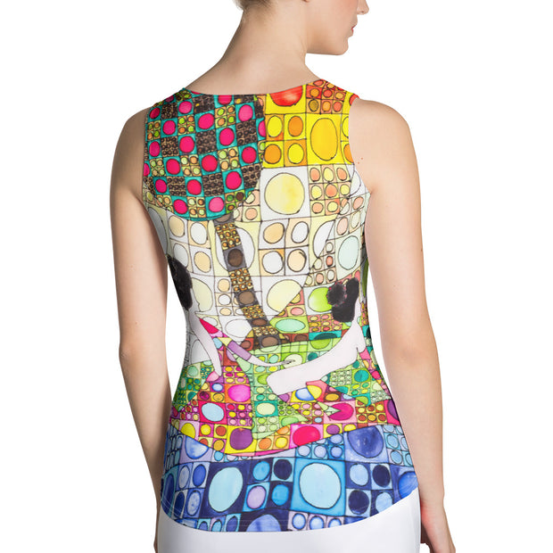 Bold and colorful tank top - striking and garish women shirts by Somejam - Amazons out of Amazonas - Tank Top