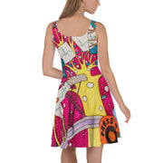 Bold and vivid Summer Dress - colorful and garish summer clothes by Somejam - Press the button to cancel - Skater Dress