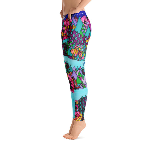 Bold and vivid leggings - colorful and garish yoga pants by Somejam - The big IT - Basic Legging
