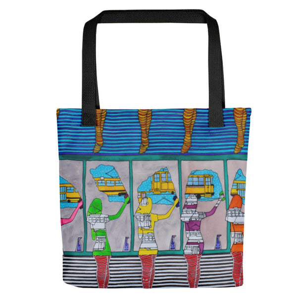 Washing the window, clearing my eyes - Tote bag