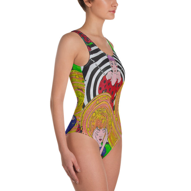 Vivid one-piece swimsuit - colorful and unique beachwear by Somejam - Du bist! - Swimsuit