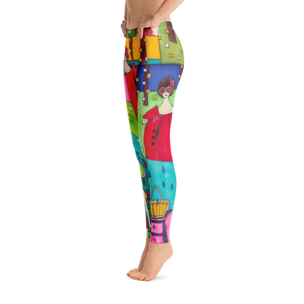 Bold and vivid leggings - colorful and garish yoga pants by Somejam - Little Red - Basic Legging