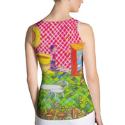 Bold and colorful tank top - striking and garish women shirts by Somejam - …is happiness - Tank Top