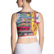 Colorful and bold crop top - striking and flashy women shirts by Somejam - Bed of the river - Crop Top
