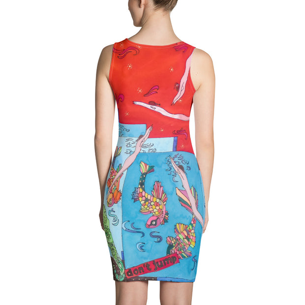 Colorful tight Summer Dress - vivid and garish summer clothes by Somejam - Don't jump - Strait Dress