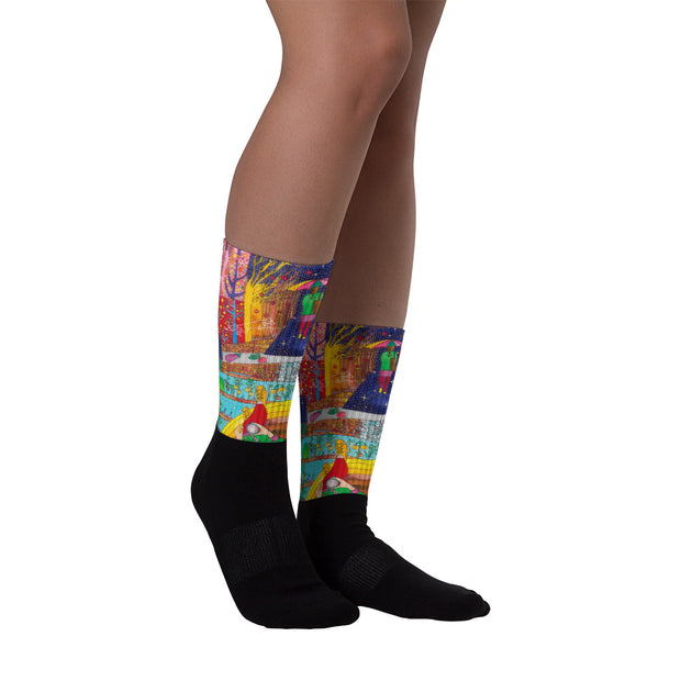 Colorful bold socks - vivid and colorful summer clothes by Somejam - On a star – in a star - Socks